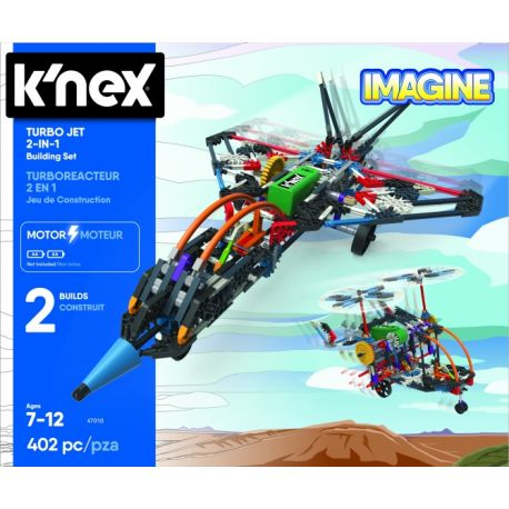 K'NEX Building Sets - Turbo Jet 2-in-1 126-delig