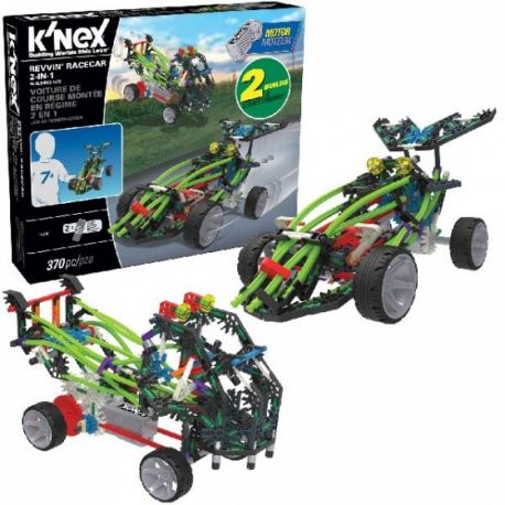 K'NEX bouwset 2-in-1 Racecar kunststof 370-delig