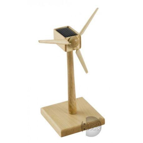 Solar Windgenerator Hout FSC, 15 cm