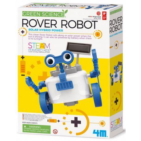 4M KidzLabs rover robot blauw/wit 28 cm