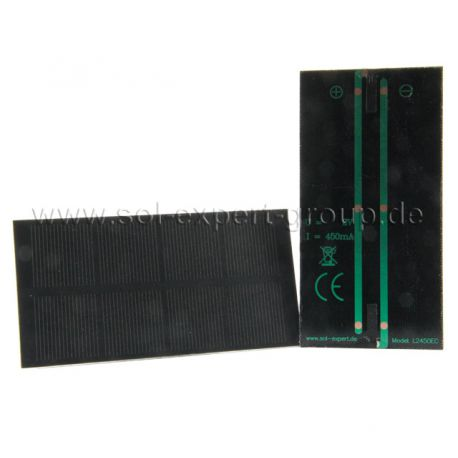 Zonnemodule L2450, voor solderen, 450mA, 2 Volt