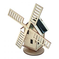 Hollandse windmolen op zonne-energie