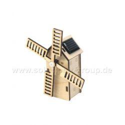 Mini Hollandse windmolen op zonne-energie