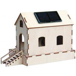 Watermolen op zonne-energie