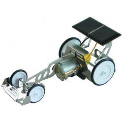 Metalen raceauto op zonne-energie, bouwset