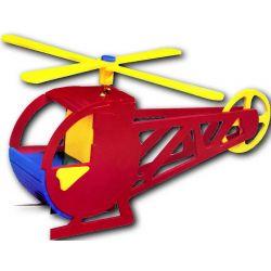 Solar Toy Wood Helicopter - houten bouwpakket speelgoed helicopter model op zonne-energie