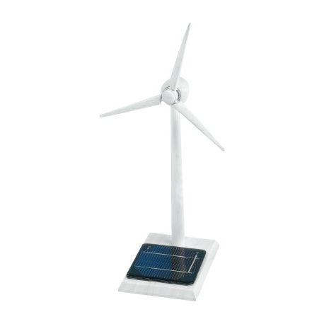 Solar windgenerator van hout wit gespoten