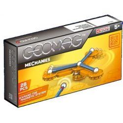 Geomag Mechanics blauw/oranje 28-delig